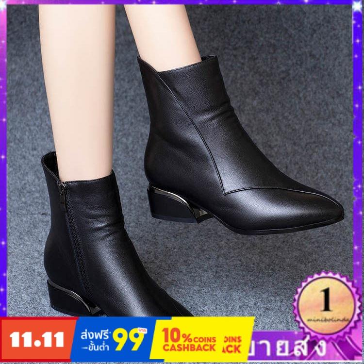 ⭐👠รองเท้าส้นสูง หัวแหลม ส้นเข็ม ใส่สบาย New Fshion รองเท้าคัชชูหัวแหลม  รองเท้าแฟชั่นรองเท้ามาร์ตินรองเท้าผู้หญิงคลื่นลู