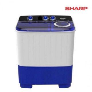 [โค๊ด HAWAS ลด5%] ส่งฟรี🎁🎁 SHARP เครื่องซักผ้า 2 ถัง ฝาบน ขนาด 7 กก.รุ่น ES-TW70BL รับประกันจากบริษัทชาร์ป