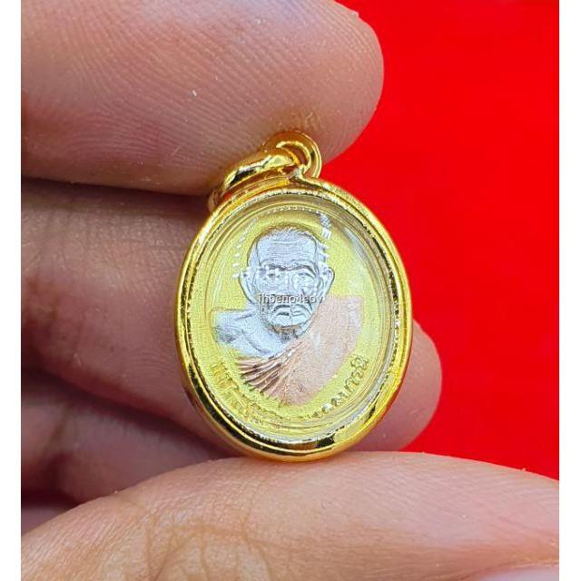 ราคาขายส่ง✔☽จี้พระประจำวันเกิดเลี่ยมทองหุ้ม96.5 หุ้มเศษทองแท้ ด้านหลังเป็นหลวงปู่ทวด เหมาะใส่ครึ่ง-1สลึง มีเก็บปลายทาง