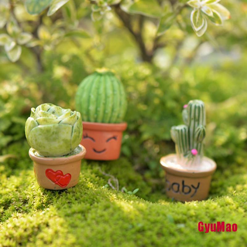 [fGUMO] DIY Mini Miniature Fairy Garden Ornament Decor Pot Craft Cactus Accessories GHY