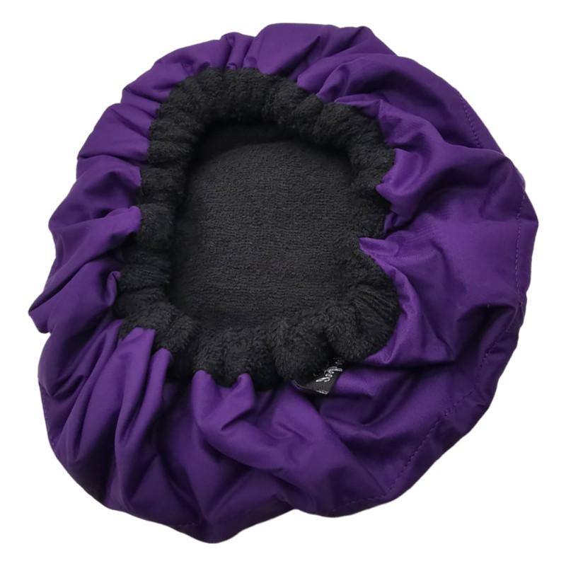 Deep Conditioning Heat Cap Hair-Drying Cap หมวกอบไอน้ำหมวกจัดแต่งทรงผม (สีม่วง)