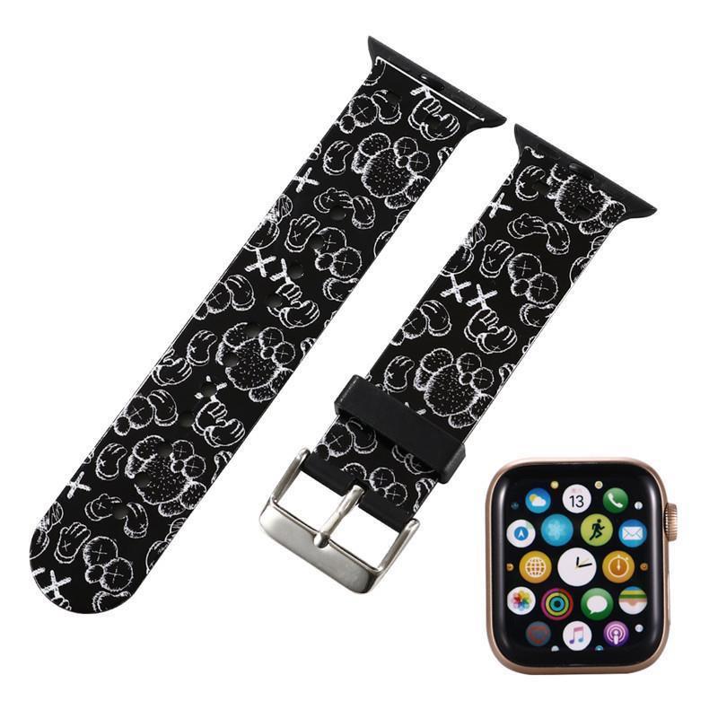 สาย applewatch iwatch strap tide brand apple strap applewatch6/5/4/3/2/1 generation cartoon iphone applicable