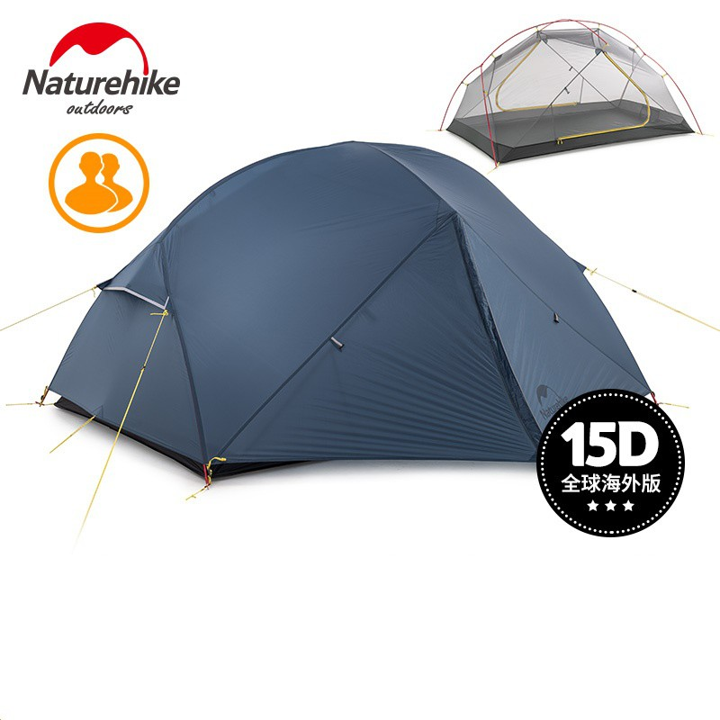 Naturehike factory sell Mongar 2 Camping Tent Double Layers 2 Person Waterproof Ultralight Dome Tent O8Gc