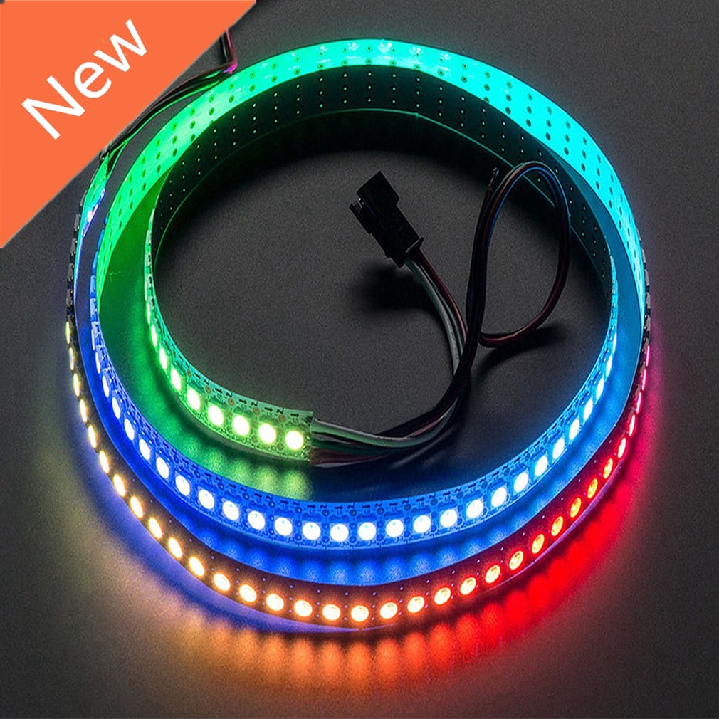 1M 5V 60LED WS2812B 5050 RGB LED Strip Light Kit Waterproof Black