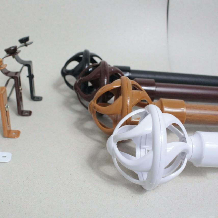 รางม่านสำเร็จรูป อุปกรณ์ผ้าม่านครบชุด ชุดราวผ้าม่านตาไก่(90-240ซม)