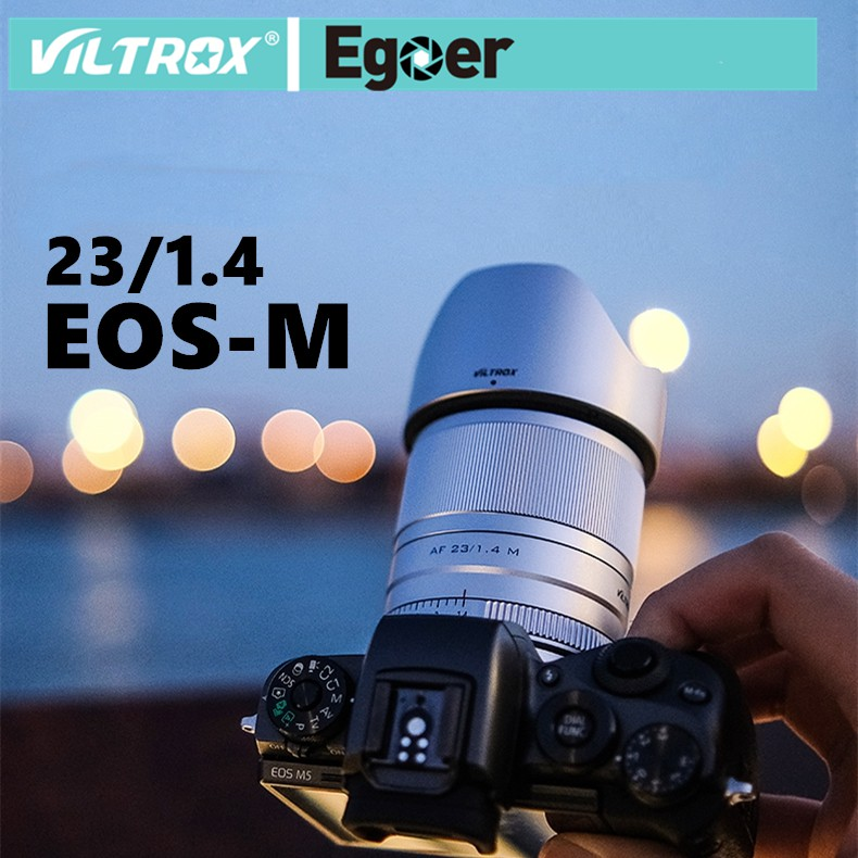 Viltrox 23mm f1.4 STM Auto Focus APS-C Prime Lens สำหรับกล้อง Canon EOS-M Cameras M10 M50 M100 M5 M6 M6II