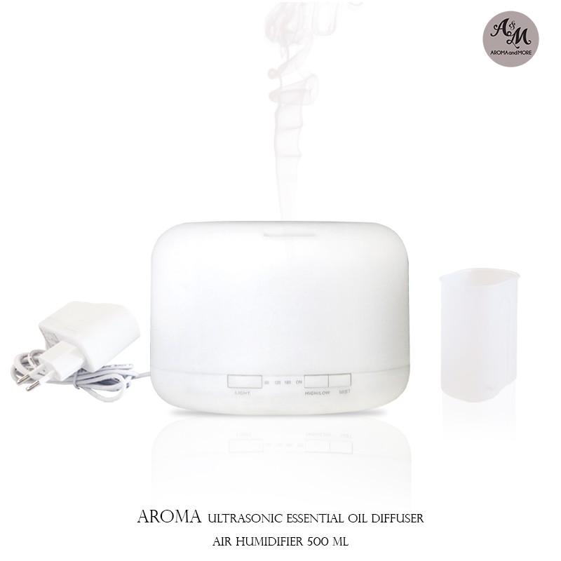 เครื่องพ่นไอน้ำอโรมา Essential Oil Aroma Diffuser Ultrasonic ( 500 ML )