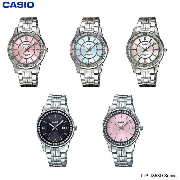 Casio Standard นาฬิกาข้อมือผู้หญิง สายสแตนเลส รุ่น LTP-1358D