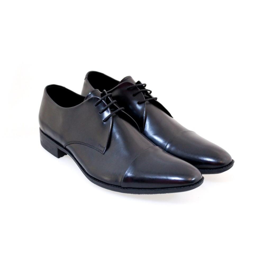 รองเท้าคัชชูเปิดส้น รองเท้า รองเท้าแตะรัดส้น Saramanda รุ่น 147059 รองเท้าทำงานผู้ชายหนังแท้ แบบผูกเชือก สีดำ
