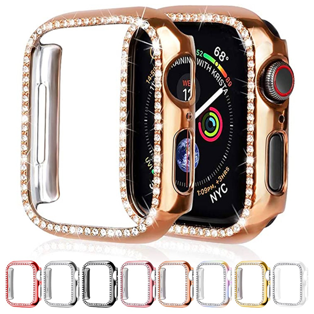 【NEOpine】【spot】Diamond Watch Case For iWatch 5/4/3/2/Apple Watch Case 38mm 42mm 40mm 44mm Screen Protective Cover