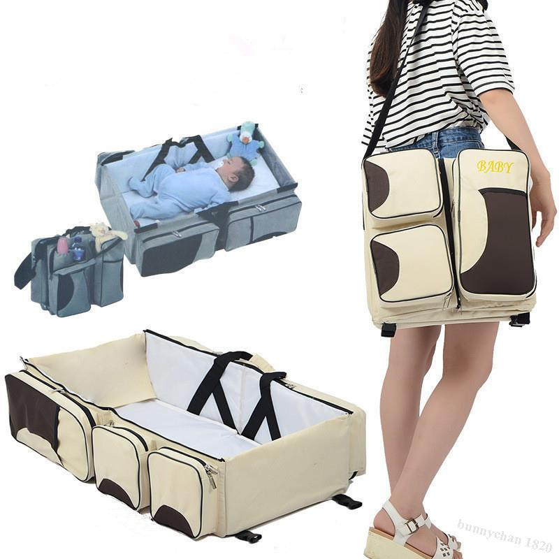 กระเป๋าใส่เตียงพับได้อเนกประสงค์แบบพกพาสำหรับทารกและเด็กวัยหัดเดินตะกร้านอนแรกเกิดเดินทาง