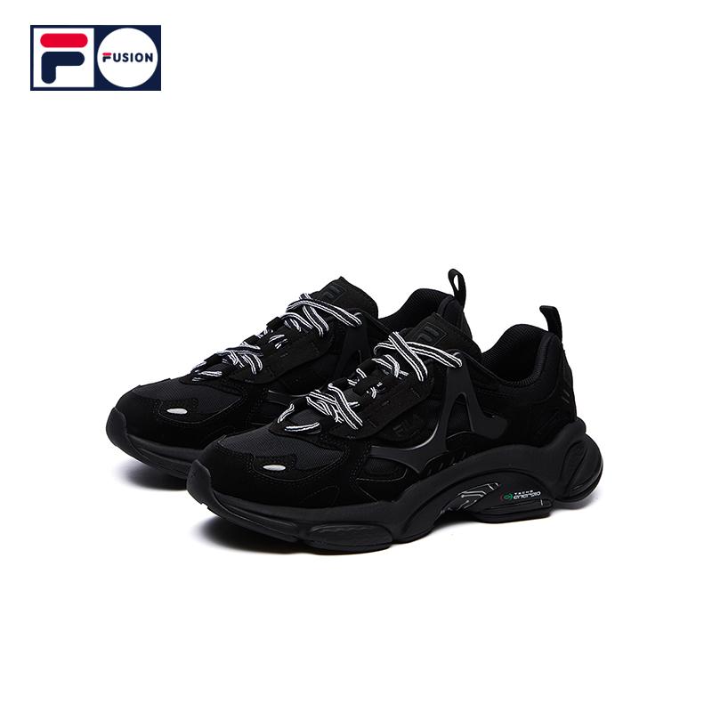 FILA FUSION 斐乐潮牌男运动鞋2021ฤดูใบไม้ผลิใหม่รองเท้าเก่าย้อนยุคRJVรองเท้าวิ่ง