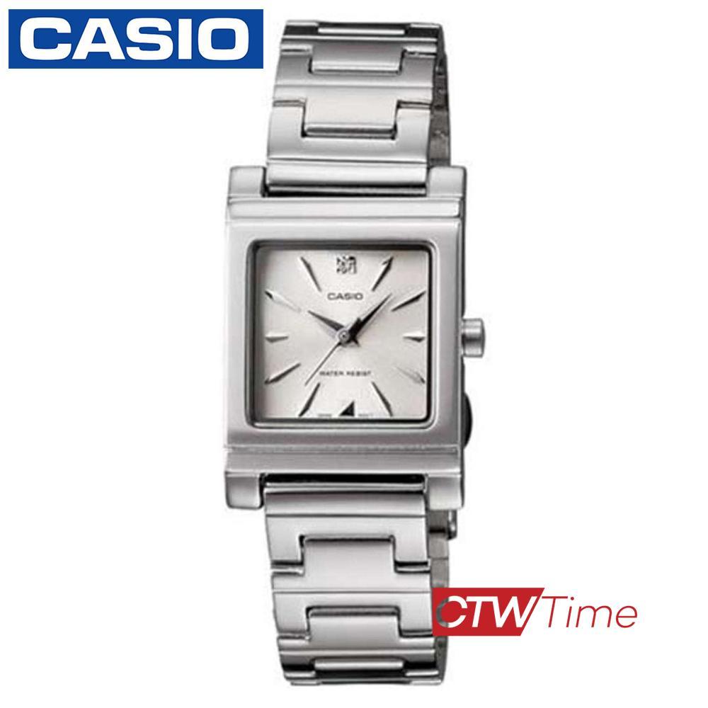(จุดด่างพร้อย)ส่งฟรี !! Casio Standard นาฬิกาข้อมือผู้หญิง สายสแตนเลส รุ่น LTP-1237D