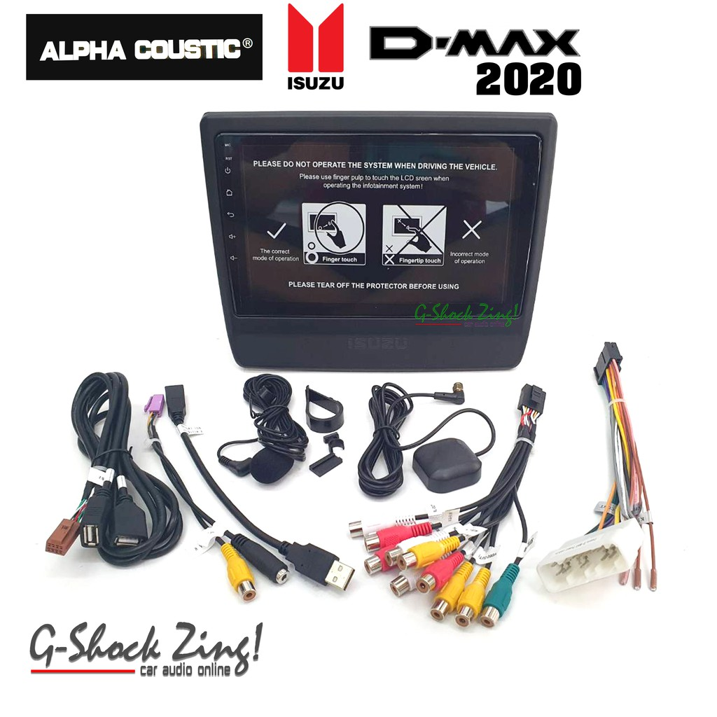 ALPHA COUSTIC เครื่องเสียงรถยนต์/วิทยุรถยนต์/จอ 9นิ้ว Android 9.0 (บิ้วอิน) สำหรับรถออนิว ดีแมค2020 ALL NEW DMAX2020
