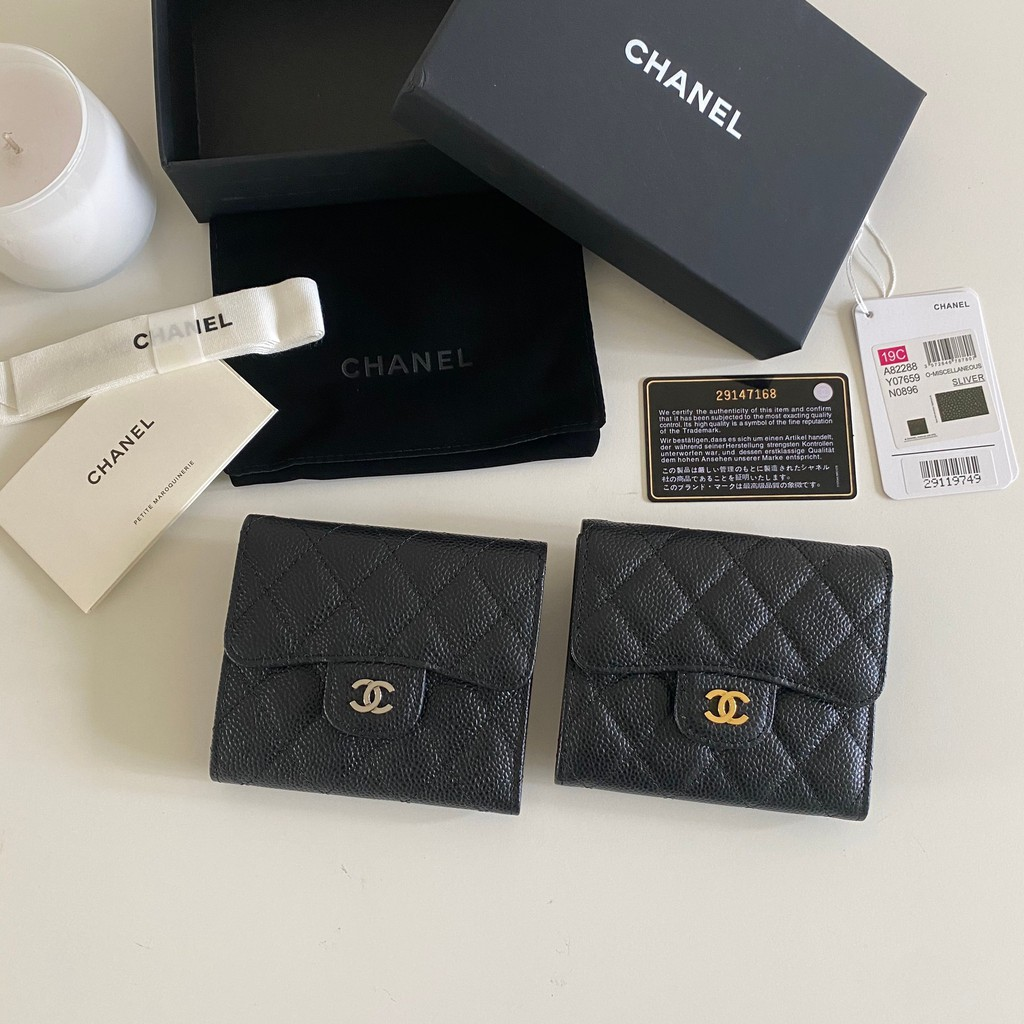 Chanel Classic Flap Small Caviar Skin Wallet Original