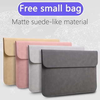 Faux Suede Laptop Sleeve Case Compatible with MacBook Air 13 Pro 15 16 iPad 12.9 Dell XPS 13/14 Surface Matebook Pro with Small Bag