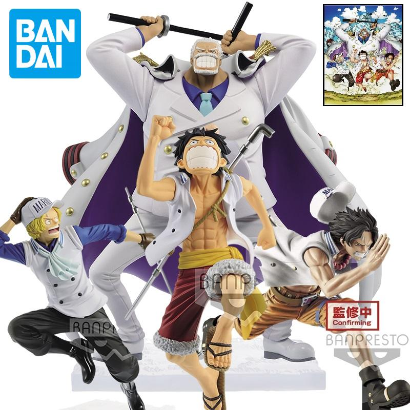 Bandai One Piece anime figure Ace Luffy Boa·Hancock garage kit Magazine Dreamland vol3 Action PVC Collection Model Toy F