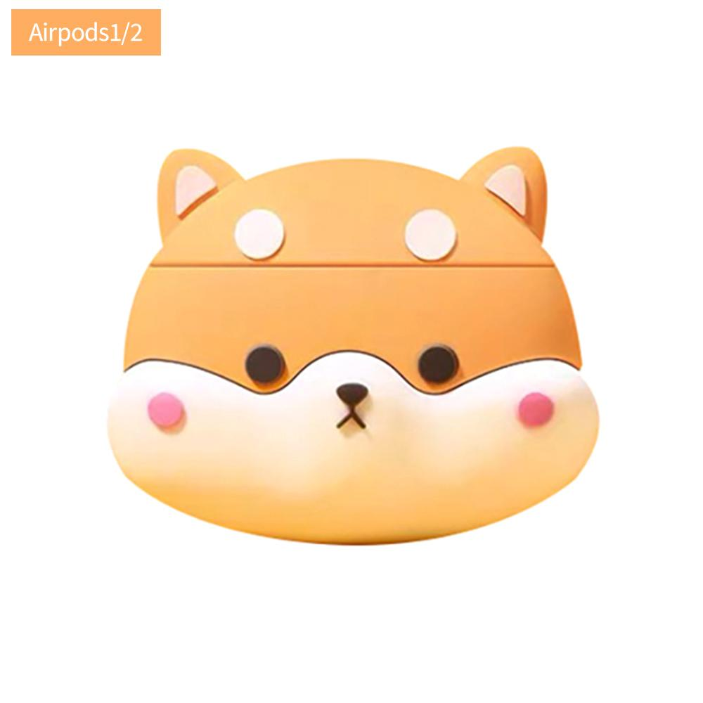 🍁GW Corgi Headset Protective Case Fit For Apple Airpods Wireless Bluetooth Headset Silicone Case