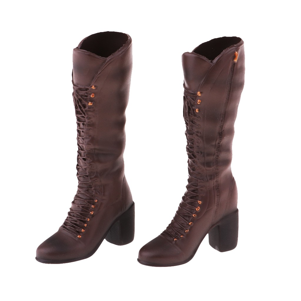 Hot Toys Cy Girl /& NT Kumik TTL Female Brown Leather Skin Boots 1//6 Phicen