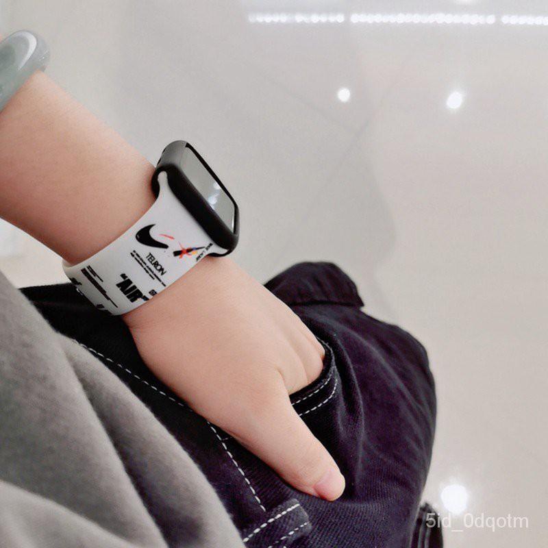 Okqk Combo 2 Món Dây Cao Su Và Ốp Bảo Vệ Apple Watch Cho Series 6/5/4/3/2/1/SE Size 38/40/42/44mm - Chinchin Case