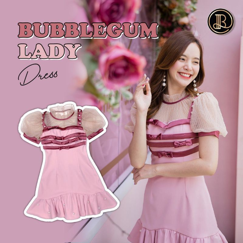 Bubblegum lady dress ป้าย BLT size xs