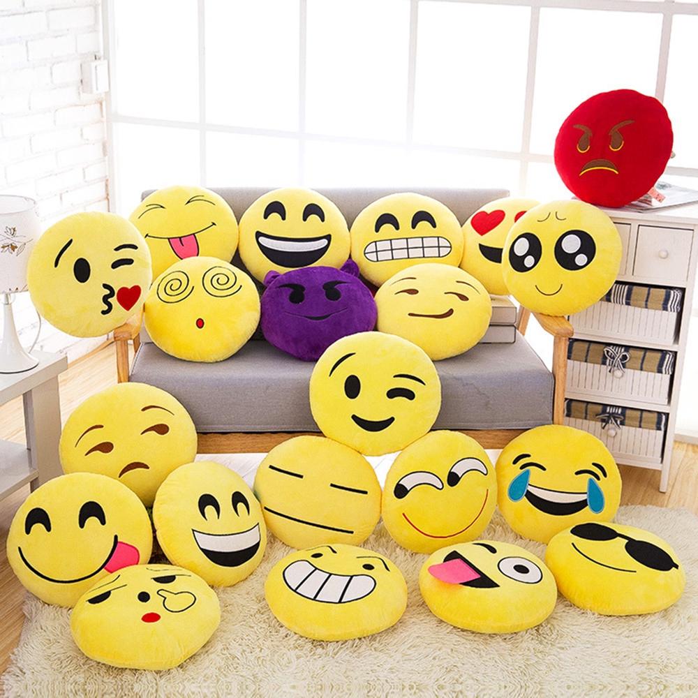 New 32cm Soft Expression Smiley Emoticon Stuffed Plush Doll
