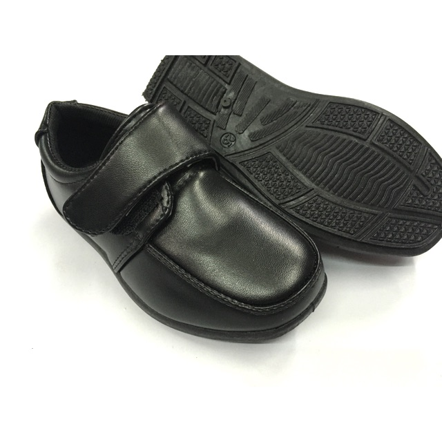 รองเท้าคัชชูเด็กผู้ชาย คาดแปะ สีดำ ไซส์ 25-36