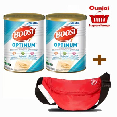บูสท์ ออฟติมัม Nestle Nutren Boost Optimum อาหารทางการแพทย์ 800 กรัม  [y1290] ..(((โปร 2 กระป๋อง ฟรี!!!!กระเป๋า)))