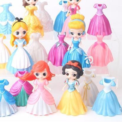 ตุ๊กตาเจ้าหญิง 6 Figure 18 Dress แบบเปลี่ยนสําหรับตกแต่งเค้ก Fg477