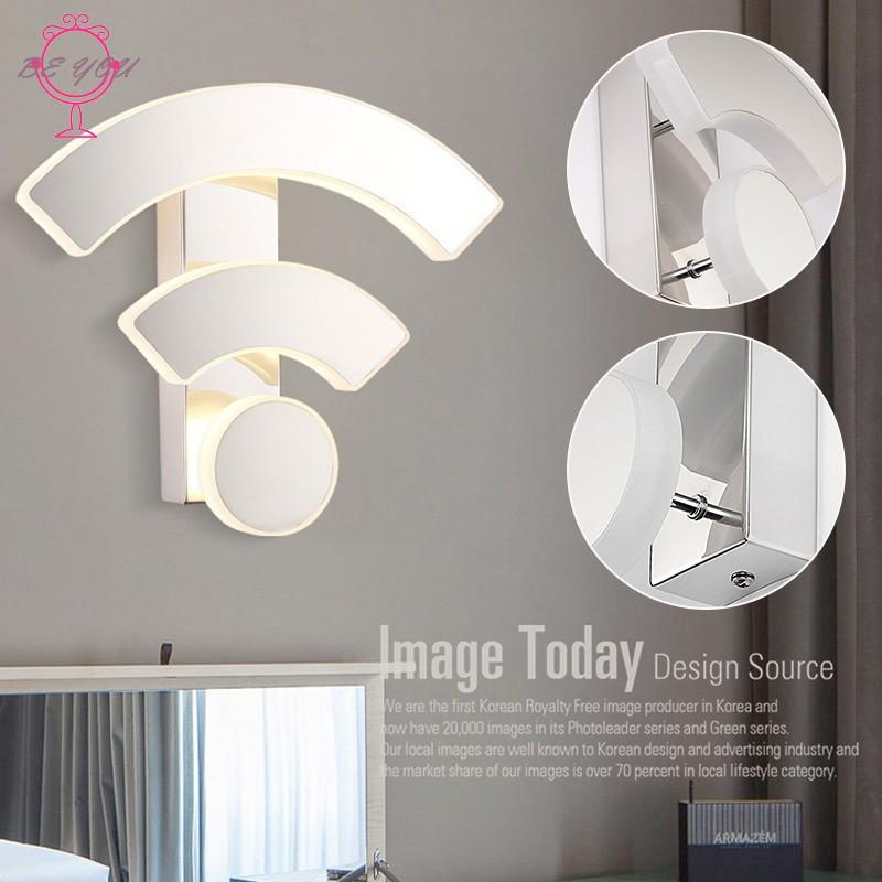 ➹BY LED Wall Lamp Light WiFi Shape Durable Acrylic for Bedroom Living Room  Bathroom