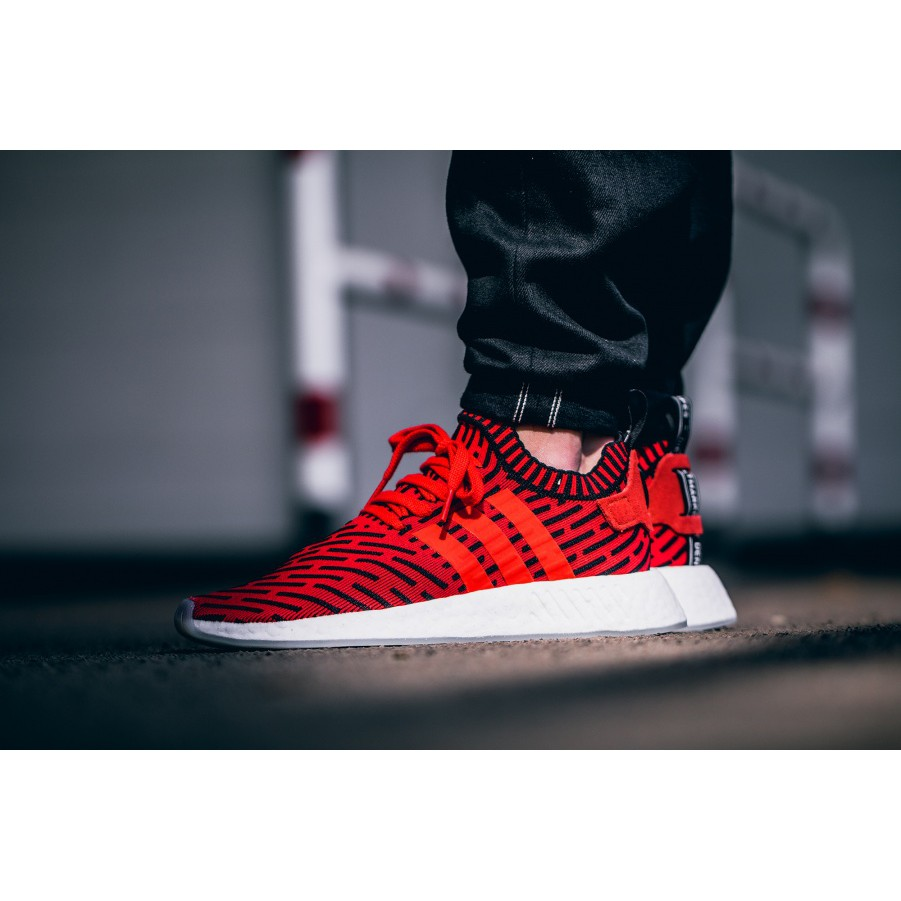 adidas nmd r2 pk black red