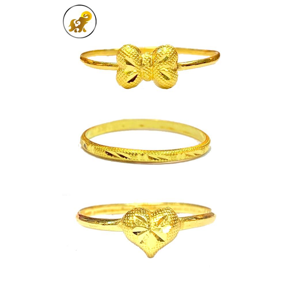 Flash Sale แหวนทอง 0.4 กรัม มินิฮาร์ท-หัวใจ ทองคำแท้ 96.5% มีใบรับประกัน