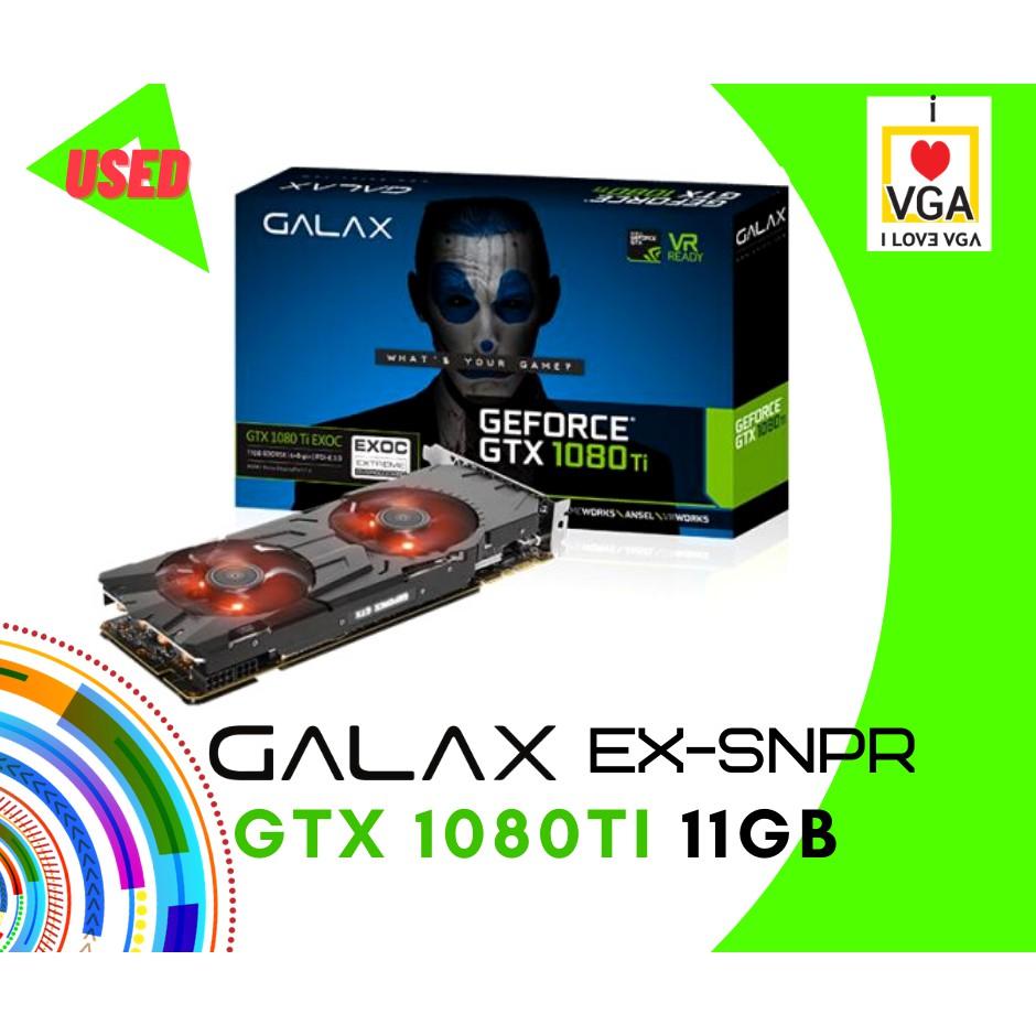 การ์ดจอ Galax EXOC Black GTX1080TI 11GB 2F (ประกันร้าน 30 วัน) P07753