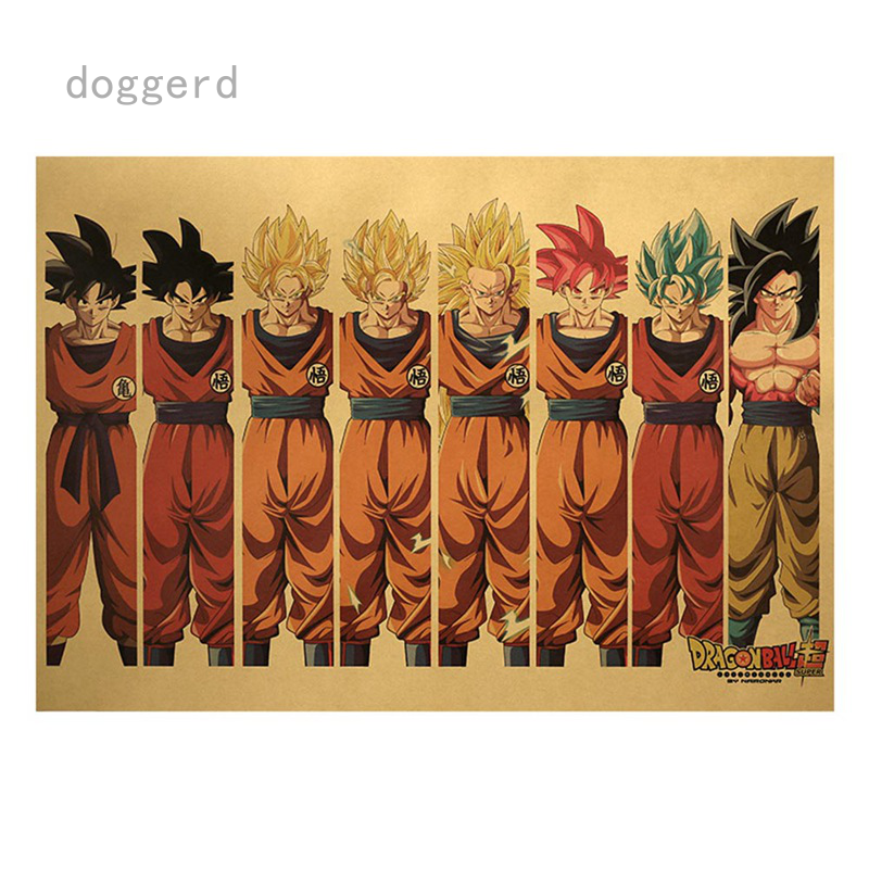 New Dragon Ball Z Action Figures Super Saiyan Goku Stickers Dragonball Figurine Figuarts Decorative Poster Stickers Children Kids Toys