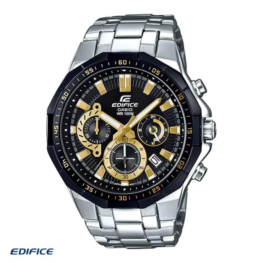 Casio Edifice นาฬิกาข้อมือผู้ชาย สีดำ สายสแตนเลส รุ่น EFR-554D-1A9