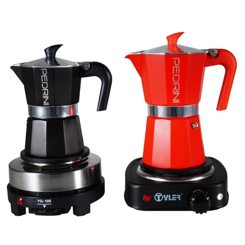 ♡≟เครื่องชงกาแฟมือYQ-105 เตาไฟฟ้าหม้อ Moka เตาไฟฟ้าเตากาแฟขนาดเล็กเครื่องทำความร้อนในครัวเรือนเตาถือเตาทำหม้อชา