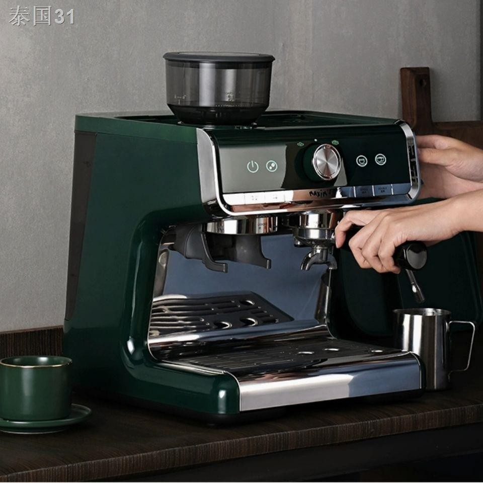 ►เครื่องชงกาแฟ Maxim Marseille เครื่องทำฟองนมในครัวเรือนกึ่งอัตโนมัติของอิตาลีเครื่องบดกึ่งเชิงพาณิชย์ขนาดเล็ก