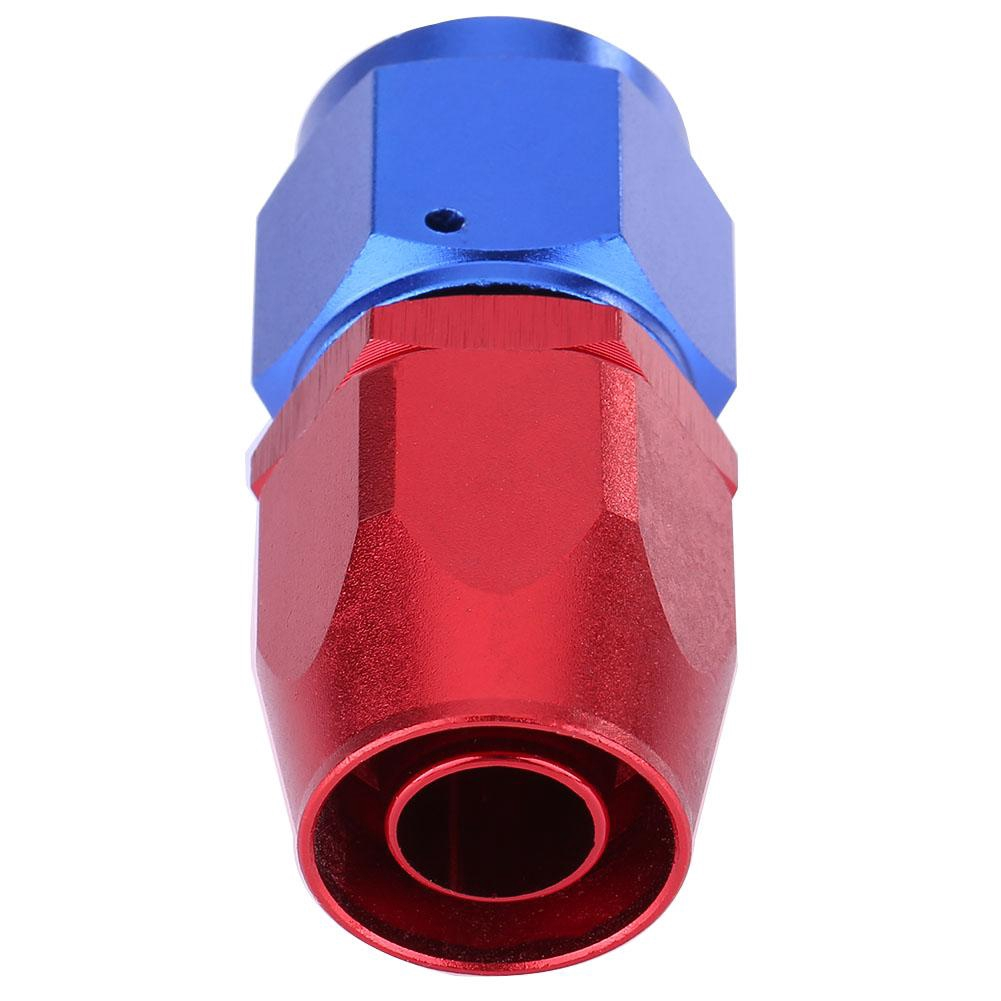 Two 2 AN10 AN-10 Push On Hose End Cover Clamp Finisher Red Aluminum Anodized Fitting