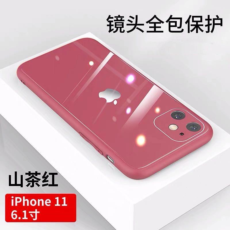 เคสโทรศัพท์ การนำเข้าของจีนเลนส์รวมทุกอย่าง Apple11เคสโทรศัพท์11proเปลือกกระจกiphone11Pro maxAnti-Fallสำหรับทั้งหญิงและช