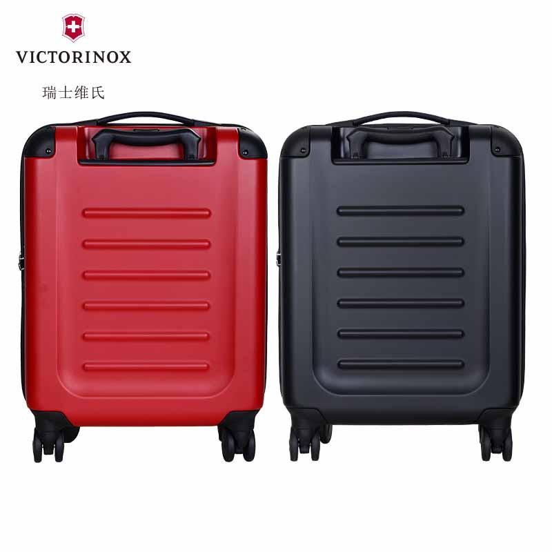 VICTORINOX/วิคเกอร์ รถเข็นสำหรับผู้ชายและผู้หญิง 20กระเป๋าเดินทางล้อลาก กระเป๋าเดินทางสีดำ