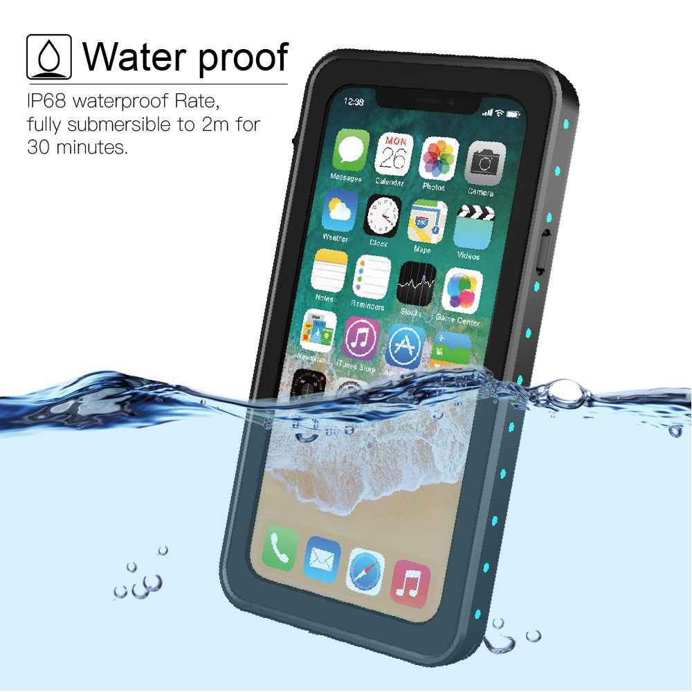 ☏เคสกันน้ำ  แท้ IPhone X/XS MAX XR 5/5S/SE 6 6S+ 7/8 Plus ทุกรุ่น!!! กันน้ำ100% waterproof case shockproof1