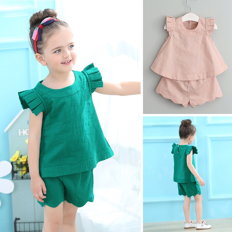 New Hollow out Skirt Outfit fit 3-7Y 2Pcs Baby Girls Long Sleeve T-shirt
