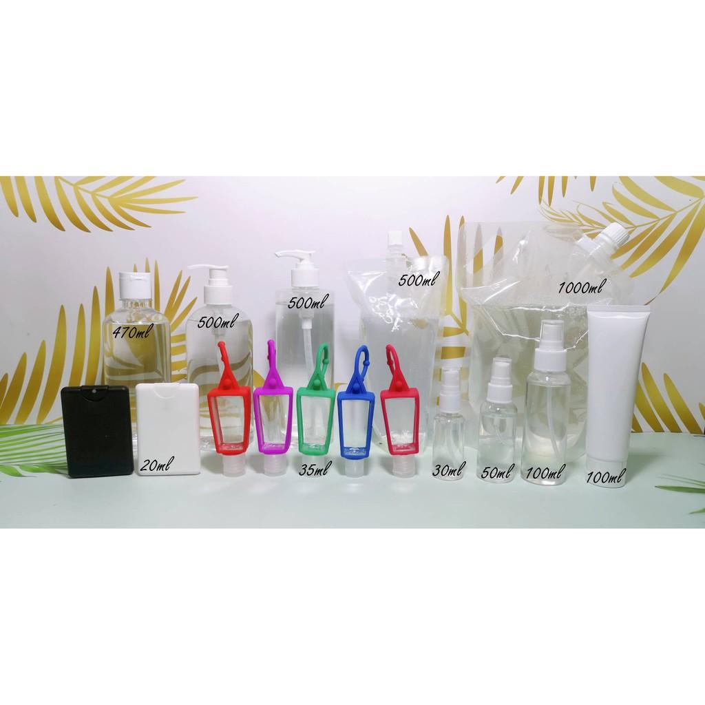✅🔥💥❁✇▦ราคาส่ง แพค 10 ชิ้น ❤ ขวด หัวห้อย ใส่เจลล้างมือ ครีม พกพาห้อยกระเป๋า 35 ml.