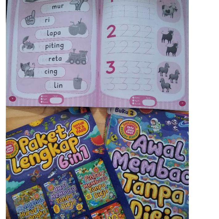 หนังสือ Paud And Kiddrarten 's 's Books / Contents 7 Books / Complete Reading Package.!