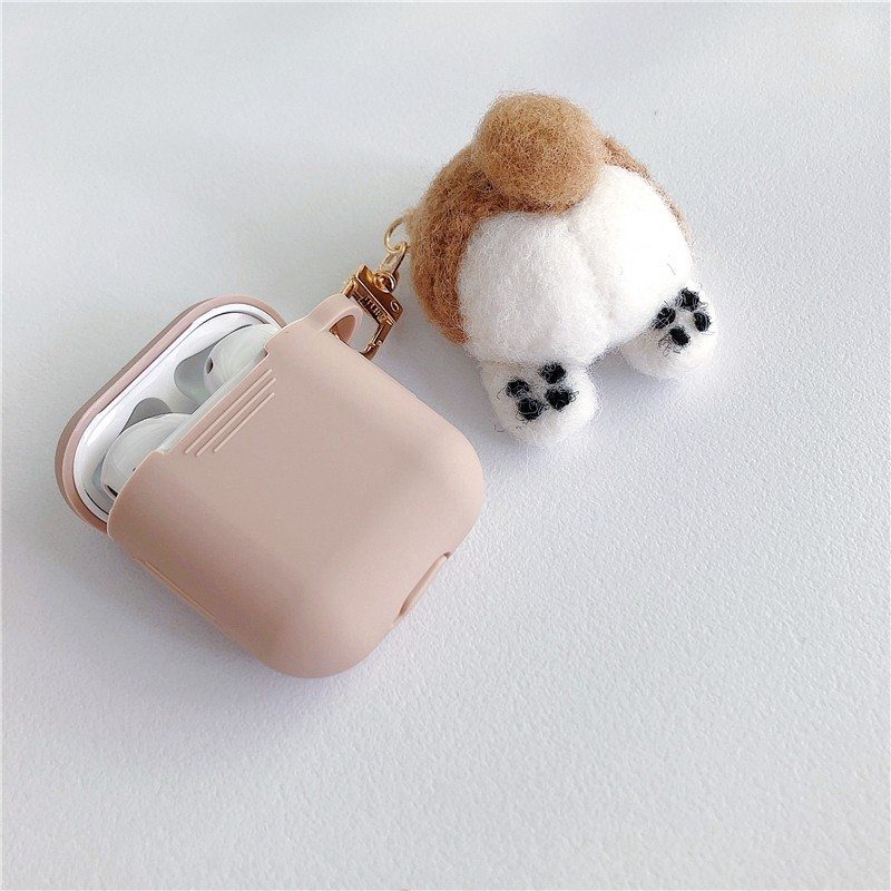 Apple AirPods Case airpods Covers Soft Case AirPods 2 Earphone stuffed toy plush toy  corgi pembroke dog Silicone