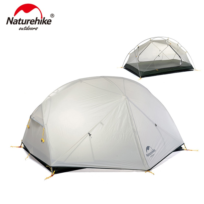 please COD Naturehike 3 Season  Mongar  Camping Tent 20D Nylon Fabic Double Layer Waterproof Tent for 2 Persons NH17T007