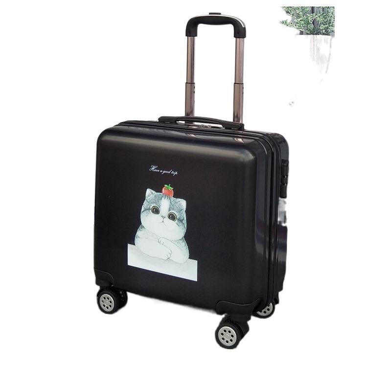 ♈☁[ร้อน] [เคสรถเข็น] กระเป๋าเดินทางขนาดเล็ก กระเป๋าเดินทางขนาดเล็กและเบา กระเป๋าเดินทางรหัสผ่านสำหรับสตรี 20 ใบ ชายตัวเล