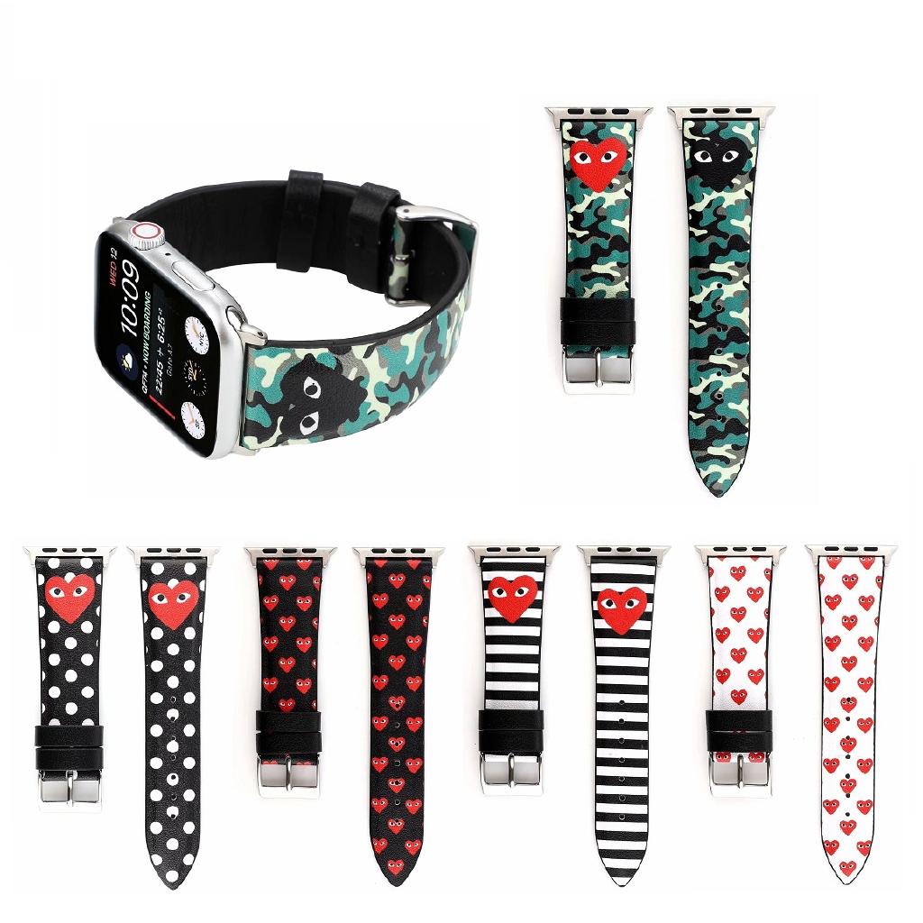 【Apple Watch Strap】สายนาฬิกาข้อมือหนังแท้สำหรับ iWatch Series 6 se 5 4 3 2 1 Apple Watch 38 มม. 40 มม. 42 มม. 44 มม.