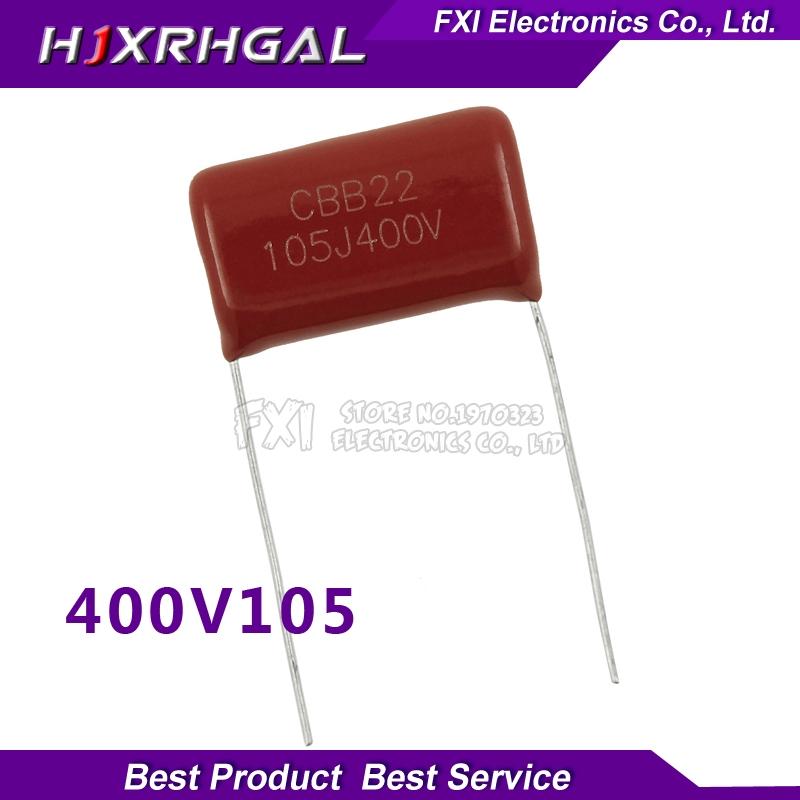 10PCS 400V105 1UF Pitch 20MM 400V 105 1000NF CBB Polypropylene film capacitor new