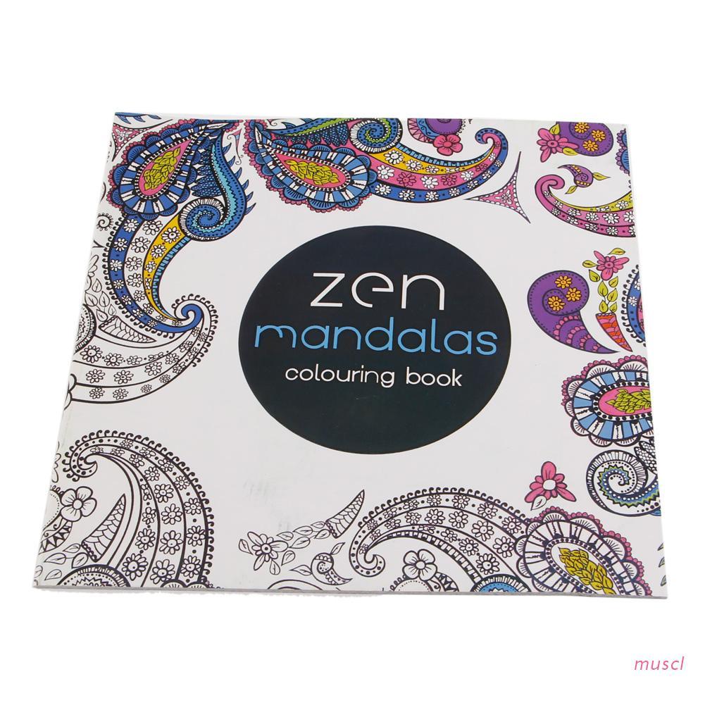 musc Livre pour enfants Graffiti Coloring Book Peinture English Books Zen Mandalas